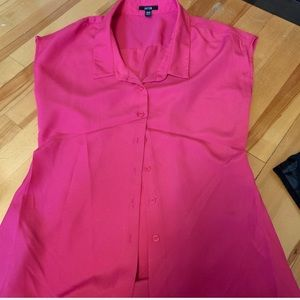 Jacob - Hot Pink Buttoned Down Blouse Short Sleeve